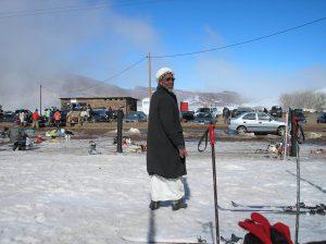 berber in de sneeuw