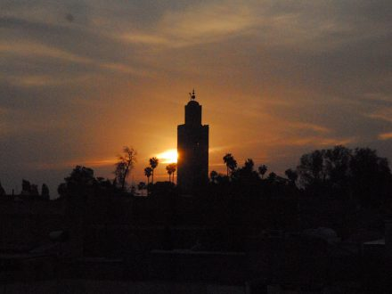 de koutoubia in Marrakech
