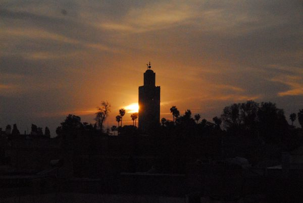 de koutoubia in Marrakech