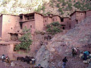 een berberdorpje onderweg