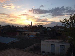 marrakech zonsondergang