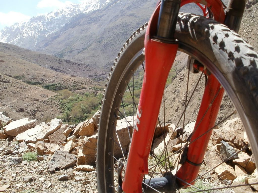 Mountainbike Hoge Atlas met NTFU instructeur