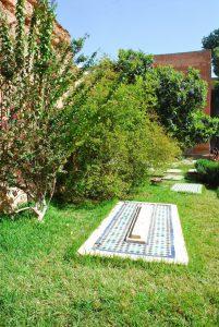 saadische graven gras
